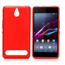 Forro Gel Sony Xperia E1 Glossy Roja $ 17.400,00