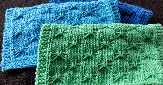 Knitting Stitch Slip 1 Wyif : 1000+ images about Dish cloths, towels and potholders on Pinterest Free pat...