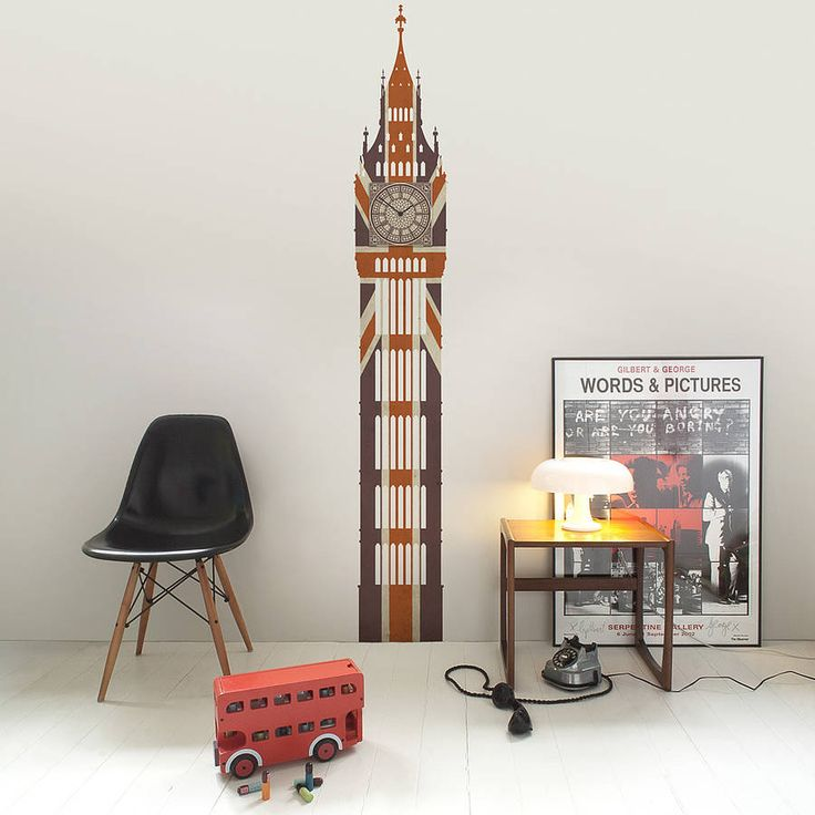 union jack big ben wall clock by colliss & quinton | notonthehighstreet.com