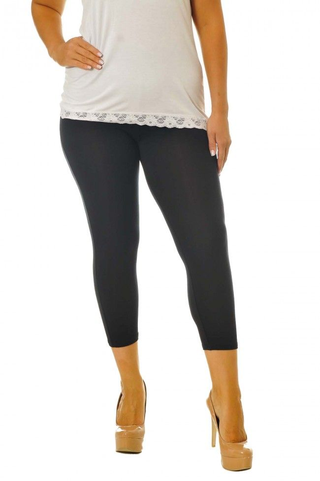 Essential Versatile Cropped Leggings - Black