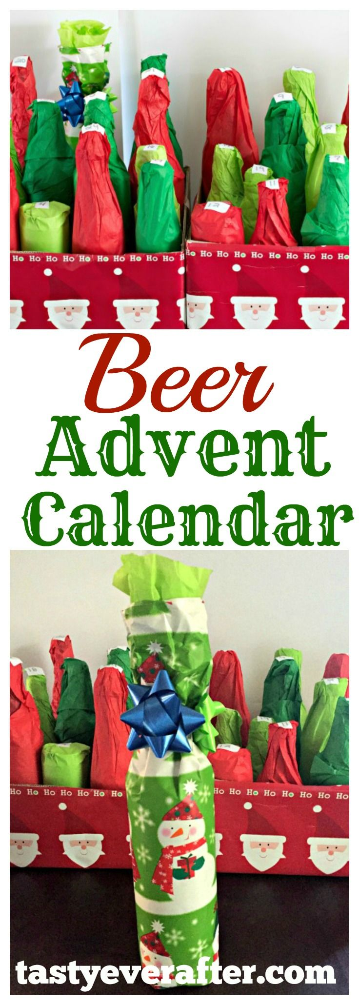 Need a unique Christmas gift for the craft beer lovers in your life?  Make a homemade Beer Advent Calendar and give them a beer once a day for 25 days!