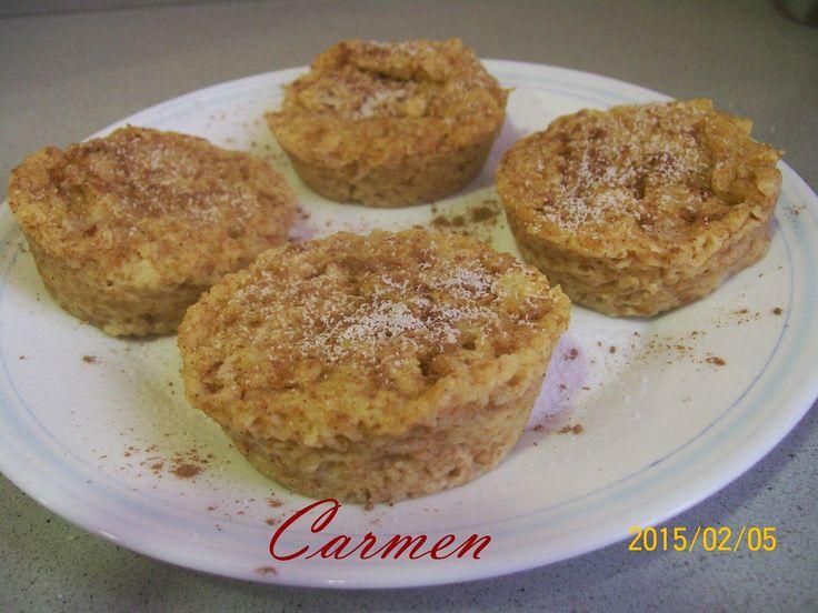 Recetas sanas de Carmen: MUFFINS DE AVENA Y MANZANA AL MICRO