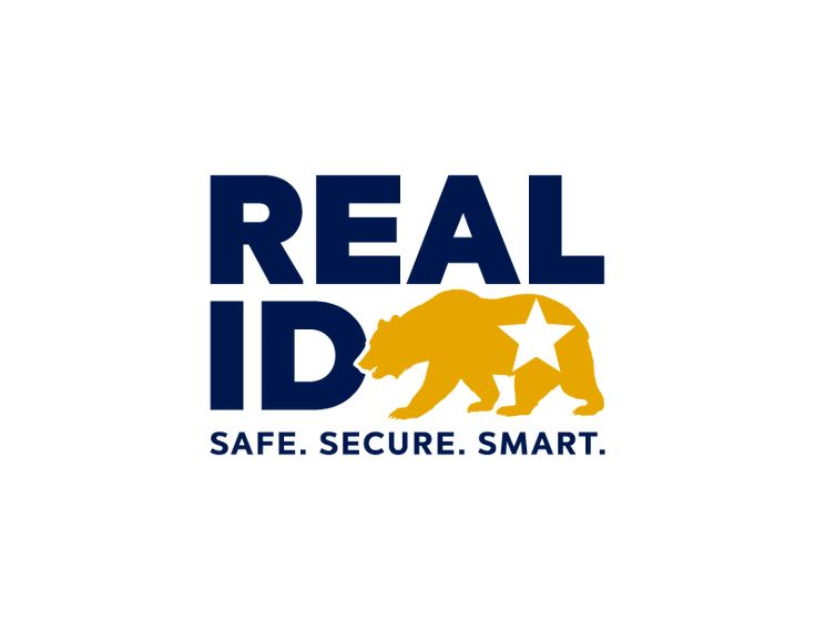 Ca real id logo safe secure smart drivers license