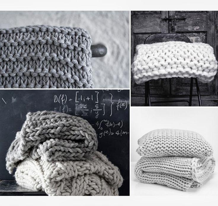 Chunky knit throw via facing north with gracia