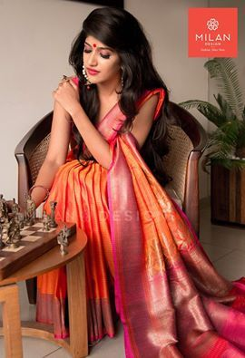 Banaras saree from Milan Design