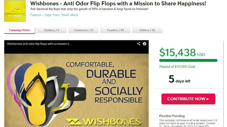 Flip-Flops #Indiegogo #FullyFunded Flip flops with #social conscience #WearHappiness #WishBones