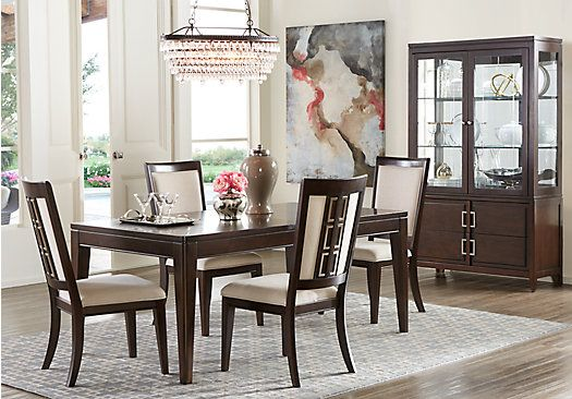 shop for a sofia vergara santa clarita dark cherry 5 pc dining room at rooms to go find dining. Black Bedroom Furniture Sets. Home Design Ideas