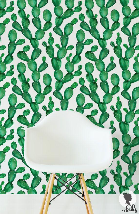 Fond d'écran amovible, Cactus Wallpaper L056