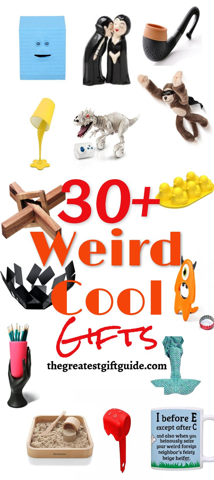 Awesome weird cool gifts - perfect for Christmas or birthdays. Lots of funny gift ideas that are weird and wonderful.