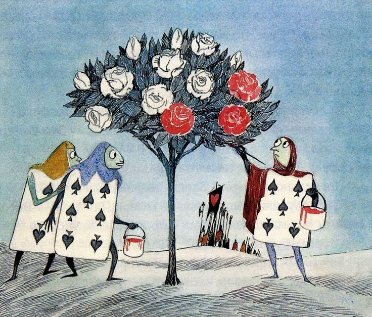 "Tove Jansson - Illustrations for ""Alice in Wonderland""  34"