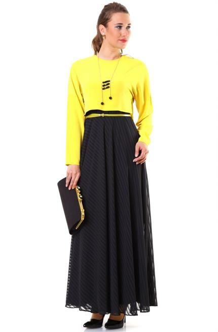 Puane Bluzlu Elbise 4582 Siyah