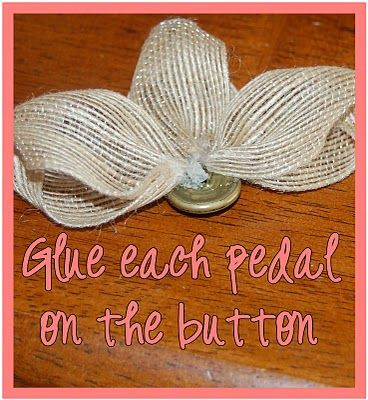 burlap flower tutorial- making these!!