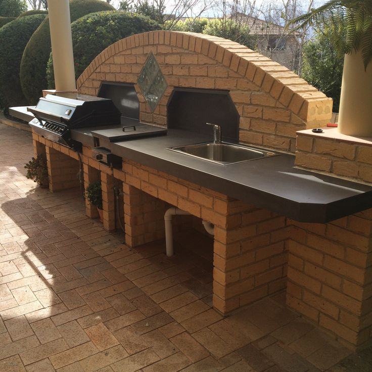 Polished Concrete Outdoor Kitchen/BBQ Benchtop by Mitchell Bink Concrete Design. www.mbconcretedesign.com.au