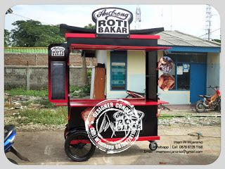 Desain Logo | Logo Kuliner |  Desain Gerobak | Jasa Desain dan Produksi Gerobak | Branding: Produksi Gerobak Dorong Roti Bakar Androng