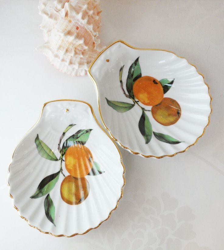 Royal Worcester Clam Shell Dish Pair Evesham Gold Pattern Vintage Porcelain Oven to Table Ware Serving & 25 best Evesham Royal Worcester made in England images on Pinterest ...