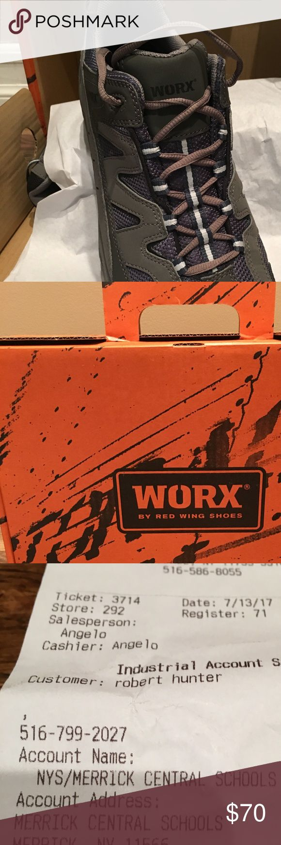 Worx men's work shoe. Brand new men's work shoe. Never worn. worx Shoes Ankle Boots & Booties