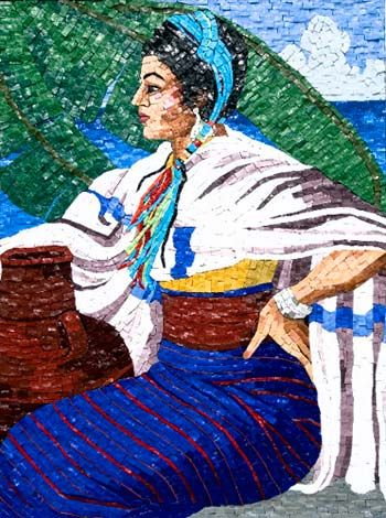 """The Matriarch"" Italian Orsoni Smalti, Mosaic tile art by Shelby / Shelby Glass Studio @ http://www.mosaic-tile-art.com/"