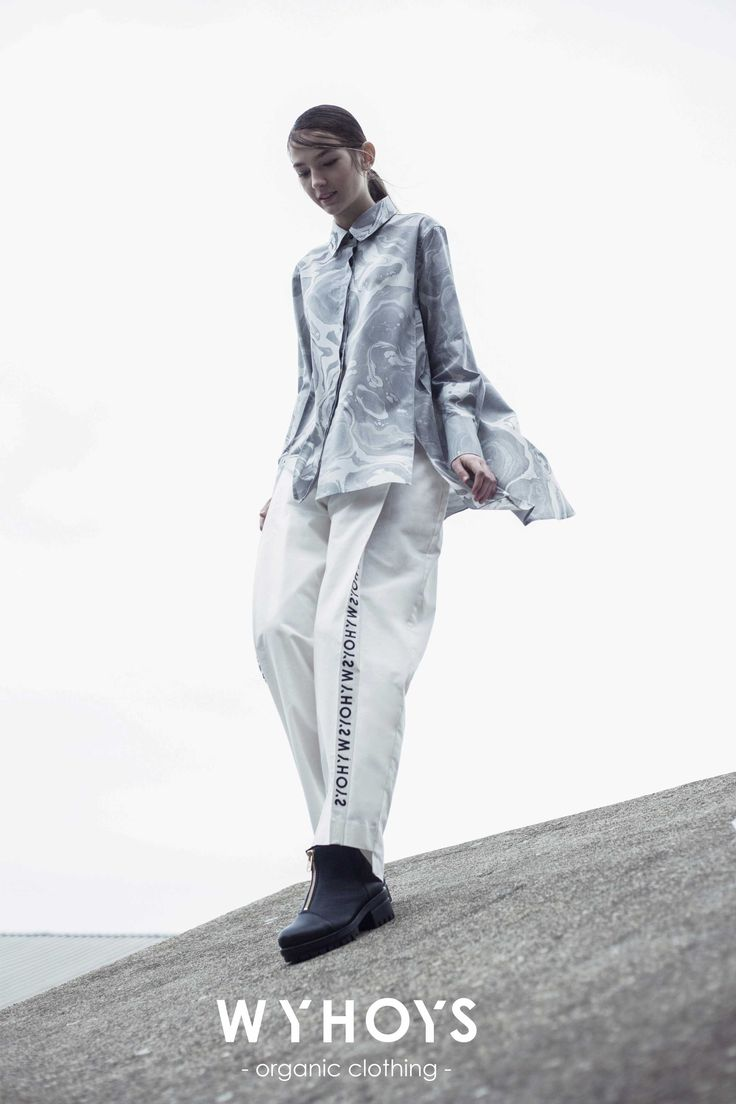 """The A/W 2016 collection is titled """"Wear Your Heart on Your Sleeve""""(WYHOYS).The design graphically showcases the tremendous damages of oil spills in nature and wildlife in order to pay more attention to oil pollution. All of the fabrics used are GOTS (Global Organic Textile Standard) approved."""