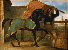 Carrera libre de caballos, Théodore Géricault. Thyssen. 1817