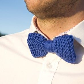Kit tricot by WoolKiss : Noeud papillon pour homme en coton