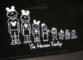 Best Stick Families Images On Pinterest Stick Family Sticks - Family car sticker decalsdc comics licensed family car stickers and window decals family