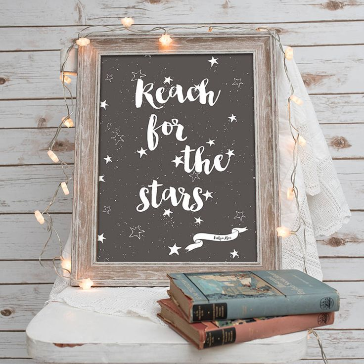 'Reach For The Stars' Nursery Print