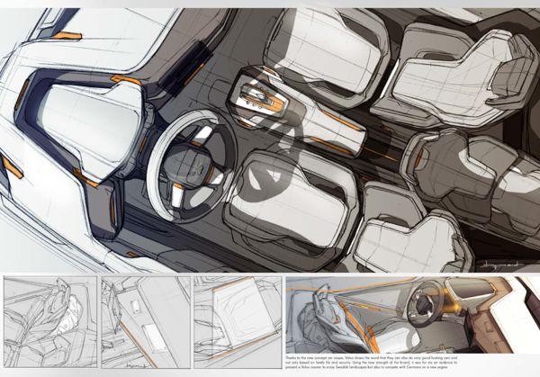Volvo Roadster by Benjamin Pérot, via Behance