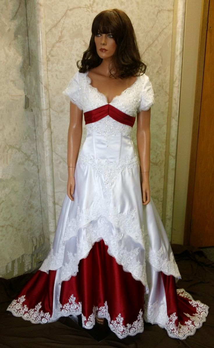20 Best Images About Wedding Dresses With Red Trim On