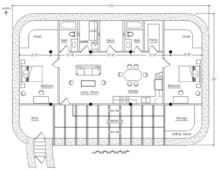 98 best Earthship Home Plans images on Pinterest | Earthship plans ...