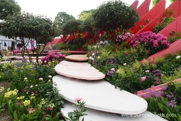 The Silk Road Garden, designed by Laurie Chetwood and Patrick Collins, at the RHS Chelsea Flower Show 2017.