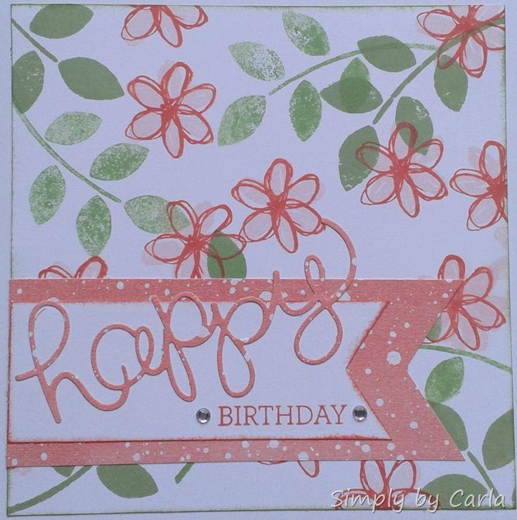 Happy birthday card using SU Hello You thinlits