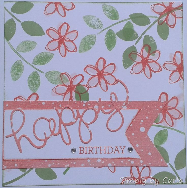 Happy birthday card using SU Hello You thinlits