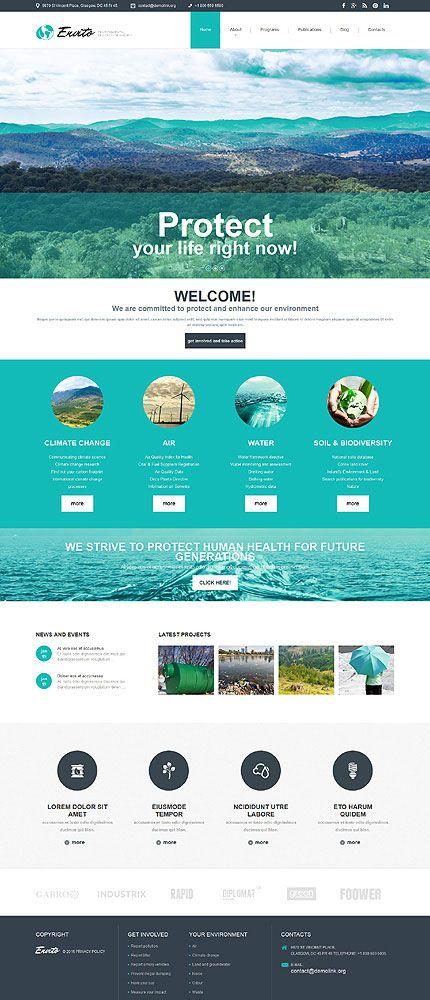 Environmental Responsive Joomla Template