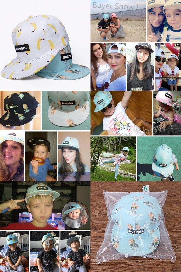 [Visit to Buy] New Fruit Pattern Snapback Baseball Caps Adult & Kids Baseball Caps Fashion For Boy Girls Hip Hop Cap Casual Unisex Summer Hat #Advertisement
