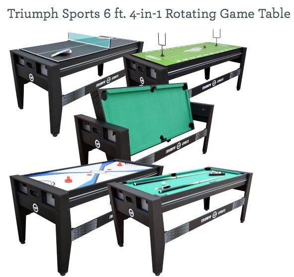 Triumph Sports 6 Ft. 4 In 1 Rotating Game Table | Triumph Sports USA |  Pinterest | Triumph Sports