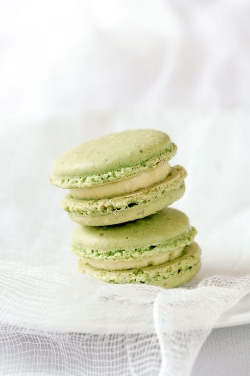 Creme Brulee Pistachio Macarons, combing 2 of my favourite puddings.
