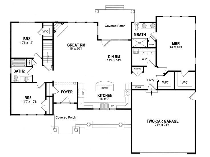 Ranch House Plans With Basement Large Size Of Home Plans