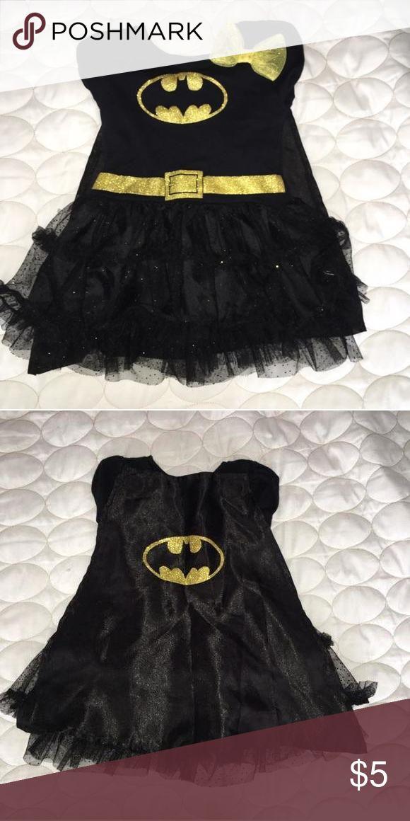 Batman Tutu Dress Black and yellow batman dress. Removable cape on back. Worn once Dresses