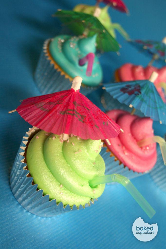 Beach Themed Cupcakes <3