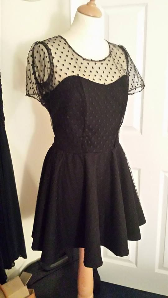 50's inspired black crepe and tulle dress