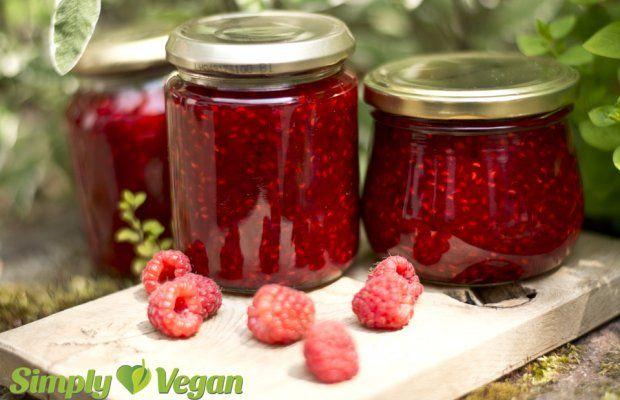 Himbeer-Vanille-Fruchtaufstrich | vegane Rezepte in Aufstriche, Soßen & Dips