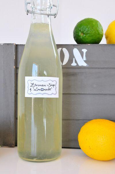 Zitronensirup mit Traubenzucker fructosearm