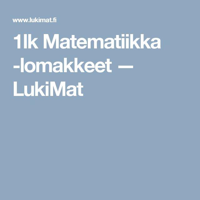 1lk Matematiikka -lomakkeet — LukiMat
