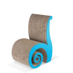 Dětská kartonová židle Chiocciolina Blue