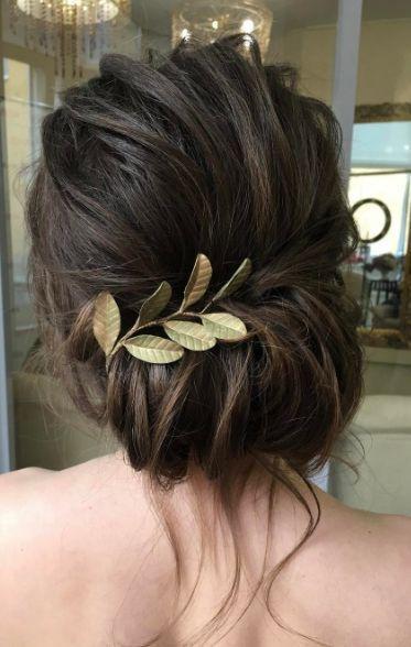 Braut Hochsteckfrisur, rustikal, niedrige Chignon, chaotisch Brötchen, Hochzeitsfrisur:   – inspiration » bridal hair
