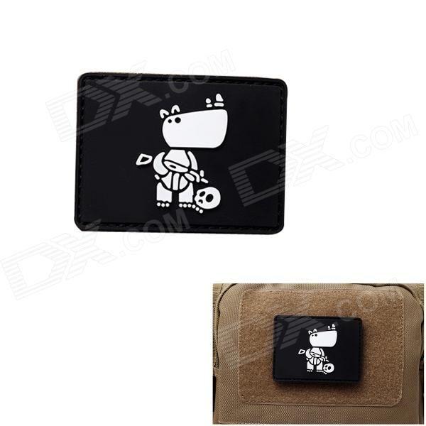 MK Fighting Dog Tactical Backpack / Armband Velcro Sticker - Black Price: $2.68