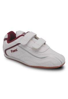 Pria > Sports > Training > Fans Zoom M Jr - Kids Taekwondo Shoes White Maroon > FANS