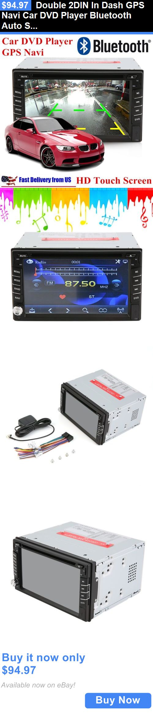 Vehicle Electronics And GPS: Double 2Din In Dash Gps Navi Car Dvd Player Bluetooth Auto Stereo Radio Ipod+Cam BUY IT NOW ONLY: $94.97