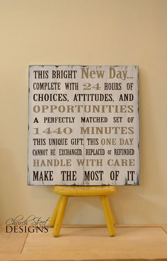 Hand Painted Wooden Sign  This Bright New Day by ChurchStDesigns, $80.00