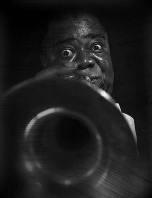 "cartermagazine: "" Today In History 'Daniel Louis ""Satchmo"" Armstrong recorded the first of his ""Hot Five"" and ""Hot Seven"" recordings on this date November 11, 1925. These recordings greatly influenced the direction of jazz music.' (photo: Daniel..."